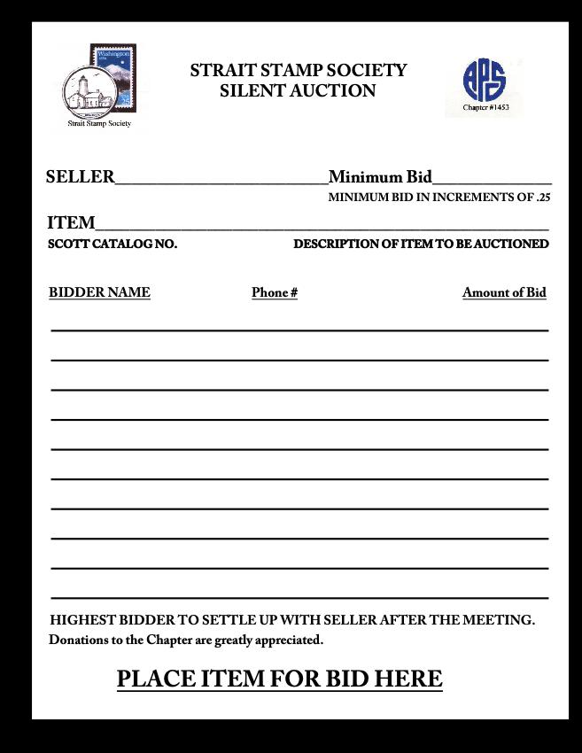 silent auction form